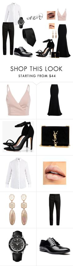 """A & V"" by demy14love on Polyvore featuring Roland Mouret, Boohoo, Yves Saint Laurent, Dolce&Gabbana, Cartier and Versace"