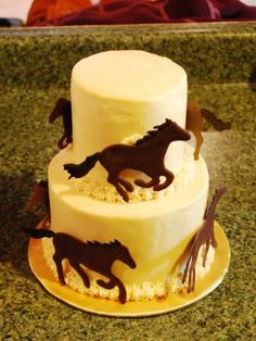 Two Tier Horse Cake