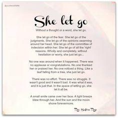 Image result for she let go