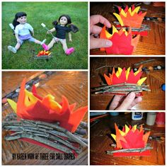 Camp Doll Diaries – Make a Campfire Play Set for Dolls