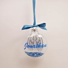 In Memory Ornaments by TreasuresTransformed.org - $8.00 each Christmas Stuff, Christmas Ideas, Christmas Bulbs, Christmas Crafts, Vinyl Crafts, Vinyl Projects, Projects To Try, Vinyl Ornaments, Memorial Ornaments