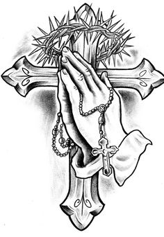 grayscale tattoo cross prayer hand grayscale tattoo cross prayer hand This i. - grayscale tattoo cross prayer hand grayscale tattoo cross prayer hand This image has get 2 repi - Jesus Tattoo, Prayer Hands Tattoo, Praying Hands Tattoo Design, Christ Tattoo, Clock Tattoo Design, Cross Tattoo Designs, Tattoo Design Drawings, Tattoo Designs Men, Hand Tattoos