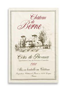 Chateau de Berne Tea Towel by Torchons & Bouchons at Gilt