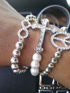 Kiki-Jabri Jewels Vanilla Sprinkles  #bracelets #accessories #armcandy #armparty #fashion #style #jewelry #etsy #crossbracelets