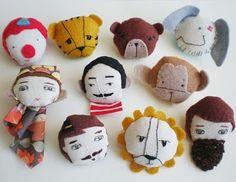 circus characters by @Evan Sharp v i e _ b a r r o w  Make a homemade circus!!