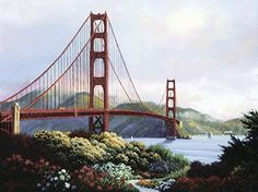 Murals Your Way, 5d Diamond Painting, Spring Day, White Art, Golden Gate Bridge, Diy Painting, Wall Murals, Wall Art, Diys