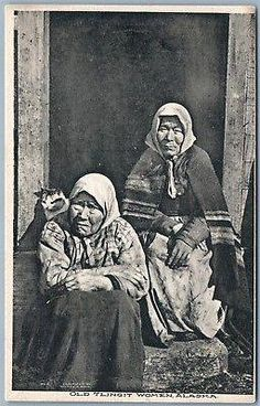 Old Tlingit Women Native American Indian Alaska 1908 postcard Native American History, Native American Indians, Native Americans, American Art, Indian Postcard, Tlingit, Native Indian, My Heritage, Figurative Art