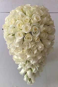 This Exquisite White Rose Bouquet Would be No Doubt One of Our Favourites.