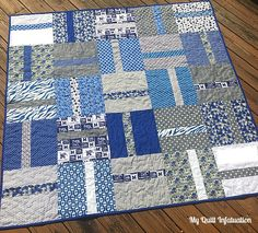Customer Man Quilt for Dan by Sew Silly Quilting Man Quilt, Boy Quilts, Scrappy Quilts, Colchas Quilting, Strip Quilt Patterns, Sports Quilts, Layer Cake Quilts, Flannel Quilts, String Quilts