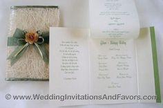 Filipino wedding invitations mint & peach