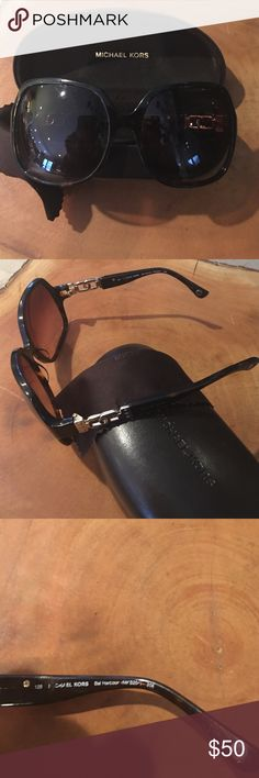 """Michael Kors """"Jackie O""""Sunglasses Lovingly used Michael Kors sunglasses.""""Jackie O """"Style. Has scratches on lenses however doesn't impede vision.(price reflects this).Case included. Michael Kors Accessories Sunglasses"""