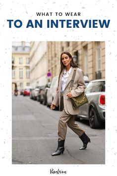 Read on for tips on what to wear to an interview no matter what the job entails, plus shop some of our favorite foolproof interview staples. #interview #outfit #professional Night Outfits, School Outfits, Work Outfits, Plus Size Looks, Shirt Tucked In, Professional Attire, Business Casual Outfits, Street Style Looks, Straight Leg Pants