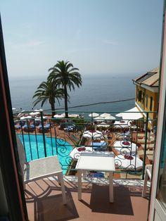 """Panorama, Camera di """"Hotel Cenobio dei Dogi"""", Camogli Liguria Italia (Luglio)"""
