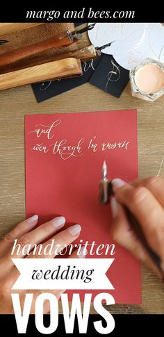 handwritten wedding vows are perfect for fine art wedding . Modern Calligraphy i… handwritten wedding vows are perfect for fine Wedding Vows, Wedding Programs, Diy Wedding, Paper Decorations, Wedding Decorations, Calligraphy I, Handmade Wedding Invitations, Writing Styles, Cardmaking