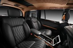 mercedes suv rear seating | Vilner Mercedes-Benz GL Rear Captain Seats with Apple iPad ...