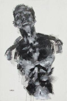 Large Acrylic Figurative Painting original by derekoverfieldart