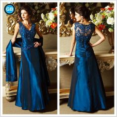 2017 Mother Of The Bride Dresses A-line V-neck Royal Blue Lace Long Plus Size Brides Mother Dresses For Weddings