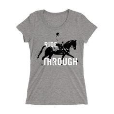 Ride Through Dressage Crewneck T-shirt