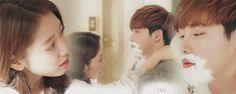 Shaving scene Pinocchio ep 18 - Park Shin Hye - Lee Jong Suk - Cr: 육눈알