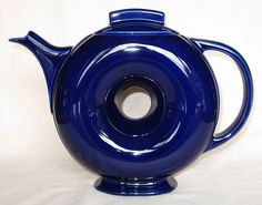 Hall China Cobalt Blue Donut Teapot