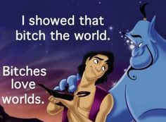 Lol idk why this made me laugh! But it's funny Aladdin) ! Beautiful Disney Quotes, Humour Disney, Funny Disney, Disney Facts, Disney Memes, Rub One Out, World Disney, Things Kids Say, Things Happen