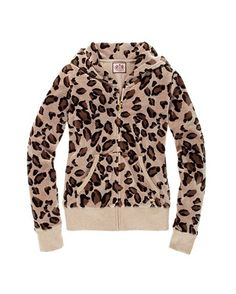 Classic juicy hoodie in leopard. Super cute.