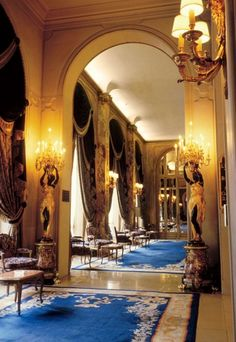 The extravagant Ritz-Carlton hotel in Paris.