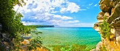 almost looks tropical! <3 this over the ocean any day for me!    The Upper Peninsula, Michigan