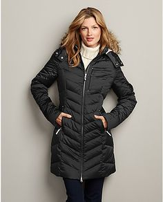 Sun Valley Down Parka | Eddie Bauer WEATHER RATING: Very Cold, 0ºF to 20ºF (-17ºC to -6ºC). Water-repellent finish sheds moisture; 550 fill Premium European Goose Down; Two-way front zipper