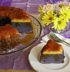 Ube Chiffon Flan Bundt Cake