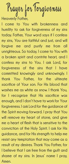Prayer for forgiveness: this simple prayer emphasizes the importance of approaching God with humility, and a heart that's repentance because that's all we really need to access His grace. Prayers and how to pray Prayer For Forgiveness, Asking For Forgiveness, Prayer Scriptures, Faith Prayer, Power Of Prayer, Prayer Quotes, My Prayer, Strength Prayer, Prayer For Change
