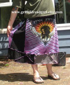 Janis Joplin Purple Crazy Stitching Tie Dye T by gr8fuldreadgrrl, $55.00