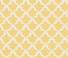 Fleur in Daffodil fabric by sparrowsong on Spoonflower - custom fabric-kitchen wallpaper