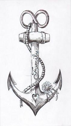 Anchor Tattoo Design by JoshThompsonART.d … auf … – … Spencer – diy tattoo image Anchor tattoo design by JoshThompsonART. Diy Tattoo, Home Tattoo, Tatoo Art, Tattoo Fonts, Body Art Tattoos, Tattoo Drawings, Small Tattoos, Sleeve Tattoos, Tatoos