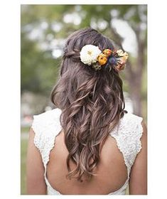 Bride with a waterfall braid