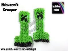Know someone that loves Minecraft? This is the Rainbow Loom pattern for them! Rainbow Loom Tutorials, Rainbow Loom Patterns, Rainbow Loom Creations, Rubber Band Charms, Rubber Band Bracelet, Rubber Bands, Diy Bracelets Loom, Rainbow Loom Bracelets, Rainbow Loom Minecraft