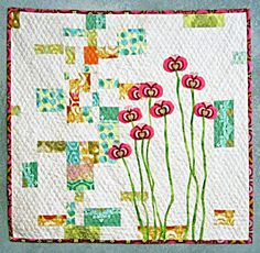 Urban Spring Quilted Wall Hanging by TextileTraveler
