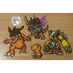 Agumon Digimon hama beads by style_artesanal