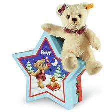 Steiff Clara Teddy Bear, Blonde, in Christmas Star Box, 109959.