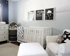 Ben's Room - Black, white, grey modern nursery /// The A Stories, via Flickr