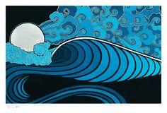 Moonlit Polihale by jamie lynn