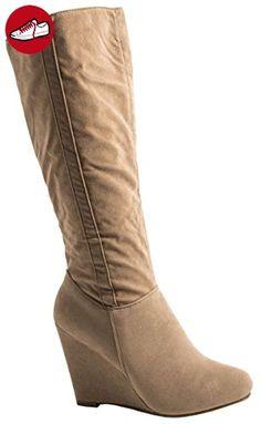 Elara Damen Plateau Stiefelette | Keilabsatz Boots | Bequeme Strass Stiefel  Größe 36, Farbe Grau - Elara schuhe (*Partner-Link) | Elara Schuhe |  Pinterest ...