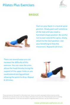 Pilates exercises at home - shoulder bridge for controlled spinal mobility