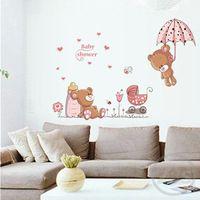 Lindo encantador del oso pegatinas sala de niños decoración baby shower adhesivo para niños habitación ay7194