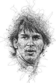 Amazing pencil ✏ sketch of Leo Messi:World Cup 2014 by Vince Low