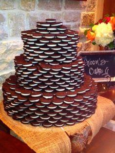 Oreo Grooms Cake by Just Add Candles, Whitney Lander, Dallas,TX Oreo Wedding Cake, Wedding Cakes, Yellow Grey Weddings, Oreo Cake, Cake Board, Cake Decorating, Bakery, Candles, Sweet
