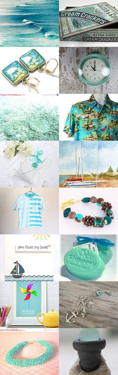 Summer at the Beach by Kathy Carroll on Etsy--Pinned with TreasuryPin.com  #summerfinds