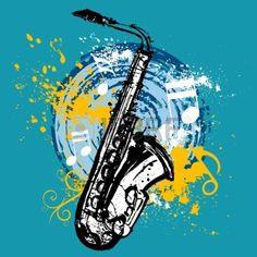 diseño de saxofón Foto de archivo