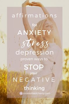 [VIDEO] Powerful Affirmations for Anxiety to Transform Your Life & Reprogram Your Thinking Anxiety Facts, Anxiety Tips, Social Anxiety, Stress And Anxiety, Health Anxiety, Mental Health, Women's Health, Intj