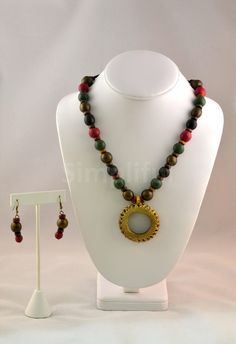 Terracotta Circle Dhokra Necklace and Earring set
